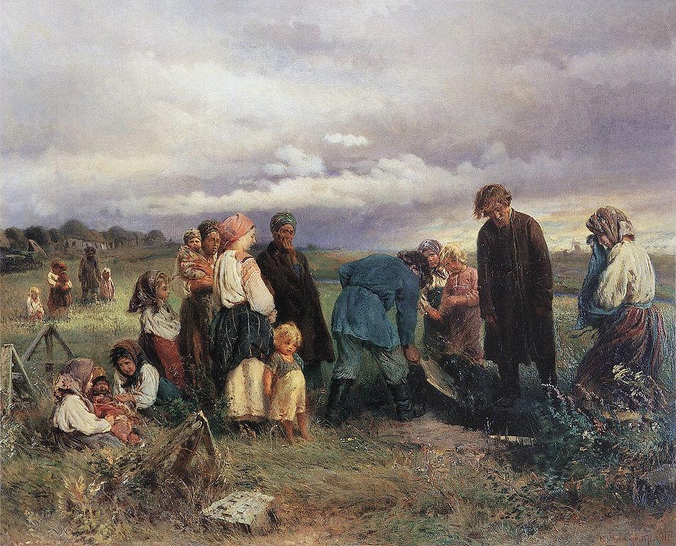 крестьяне на барщине